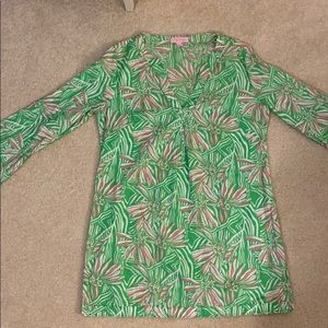 Lilly Pulitzer Green and Pink Summer Top